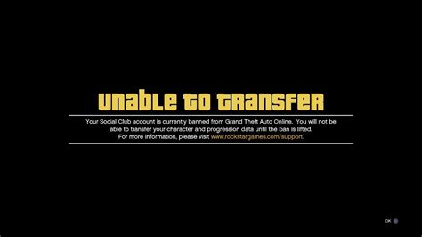 GTA 5 Online Unable to Transfer & Banned by cheater PS4