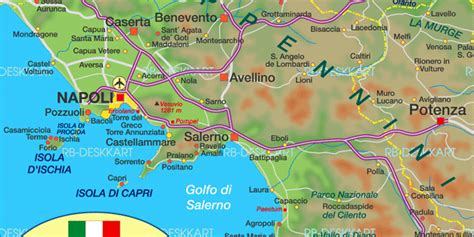 Map of Campania (State / Section in Italy) | Welt-Atlas