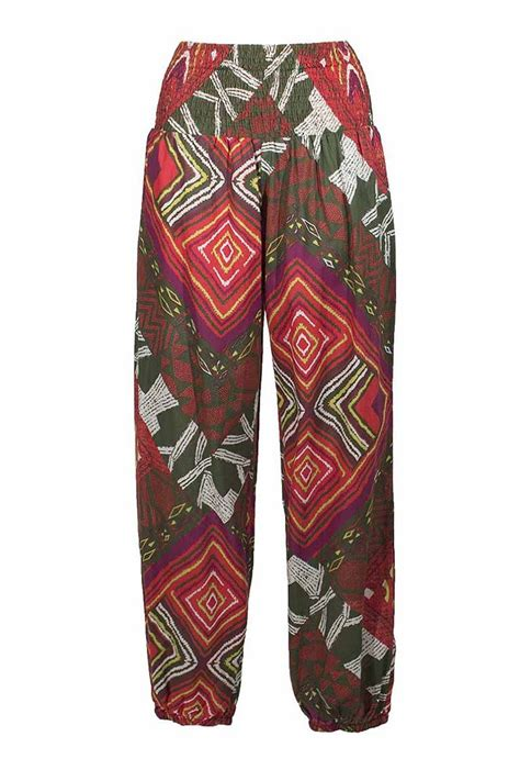 Printed pants, baggy and casual for women