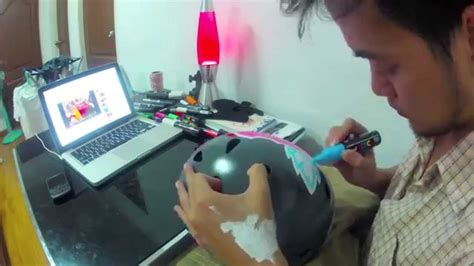 PPDesign : Bicycle Helmet Painting - YouTube