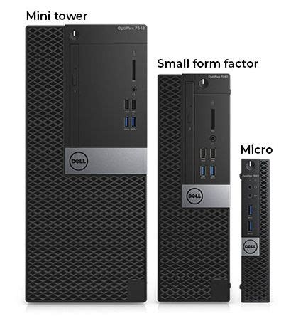 Dell Optiplex mini tower sd card shape on top of case