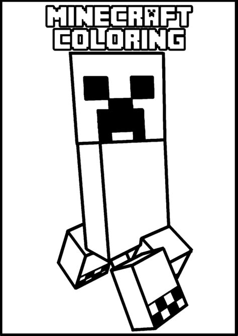 Minecraft online coloring pages 6