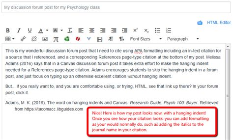 Writing APA in your discussion forums - PSYC 100: Bayer, B