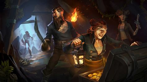 Sea of Thieves: players crew and battle a pirate ship in