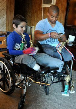 Local boy draws inspiration from fellow amputee | PennLive