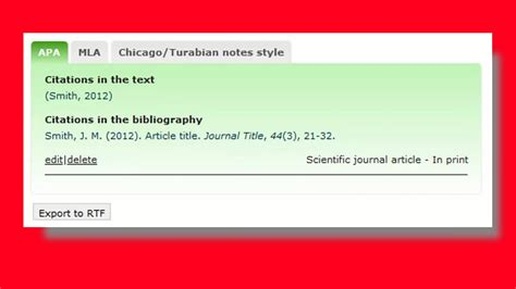 Tutorial for how to write citations