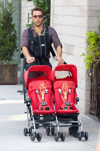Jeremy Piven Takes His Babies Out On A Walk: ohnotheydidnt
