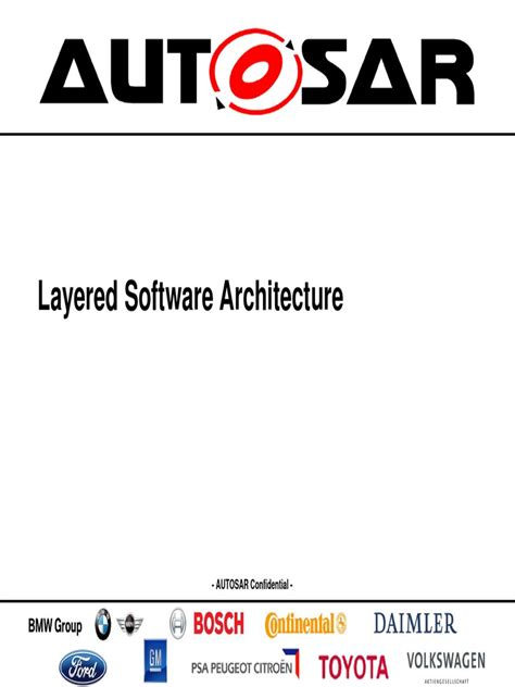 AUTOSAR EXP LayeredSoftwareArchitecture | Device Driver