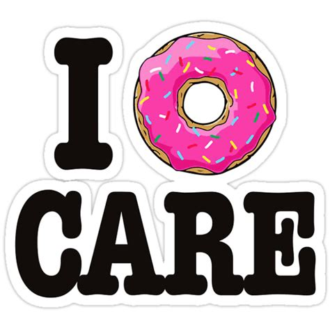 """""""I Donut Care"""" Stickers by Morgan Turrentine   Redbubble"""