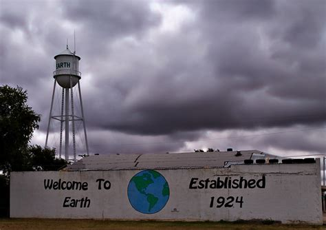Earth, TX : An Earth Texas Wall Mural with water tower in