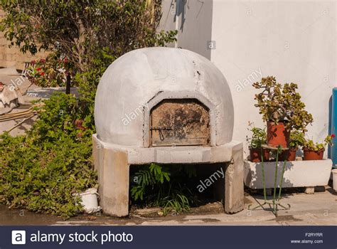 Traditional Greek and Cypriot wood fired brick clay oven