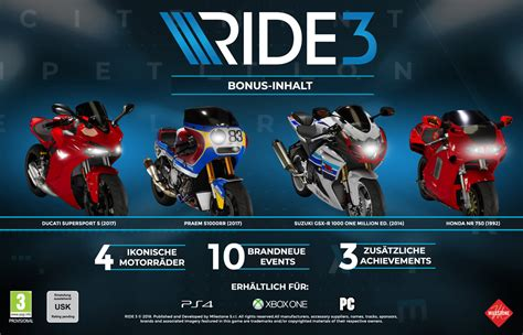PS4 - RIDE 3 inkl