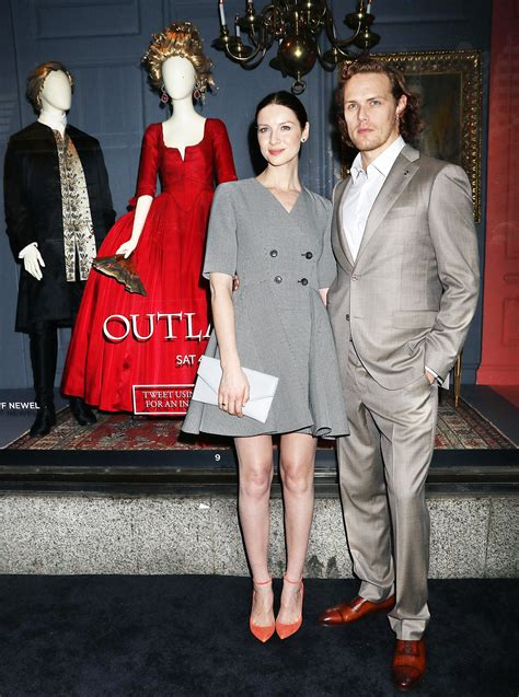 Caitriona Balfe and Sam Heughan Unveil Saks Fifth Avenue