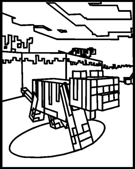Minecraft online coloring pages 20