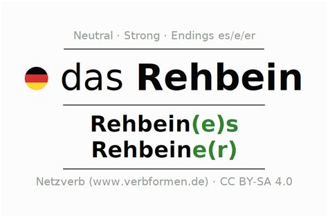 Declension Rehbein   All forms, plural, translation