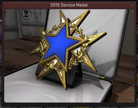 Here's what the 2015 service medal looks like in-game