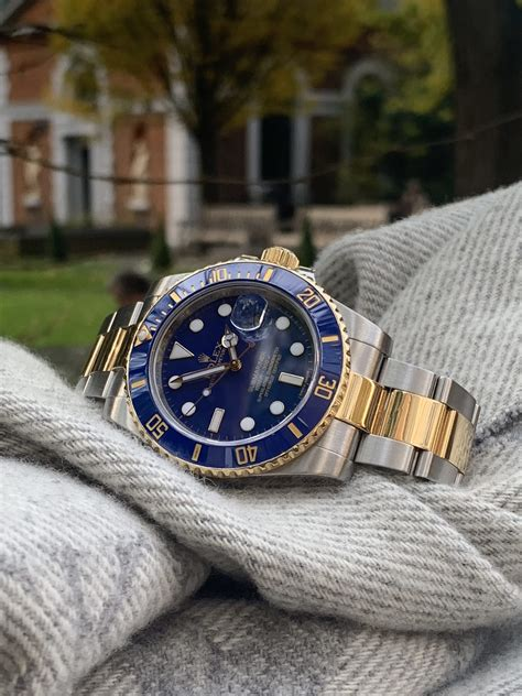 A 2019 ROLEX SUBMARINER STEEL AND GOLD 116613LB - Carr Watches