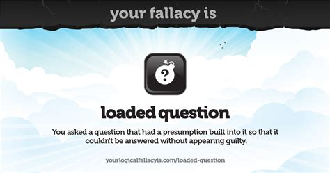 Your logical fallacy is loaded question