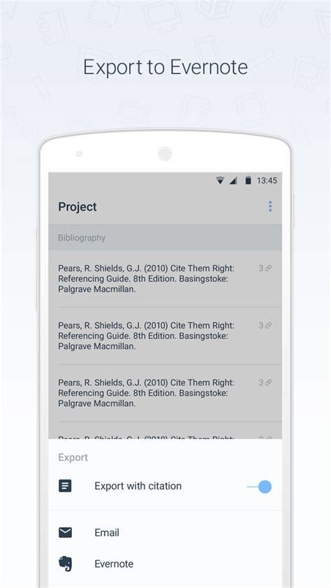 RefME - Android - English - Evernote App Center