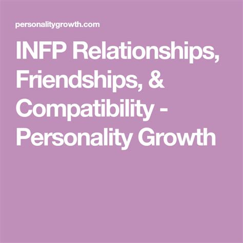 INFP Relationships, Friendships, & Compatibility   Infj