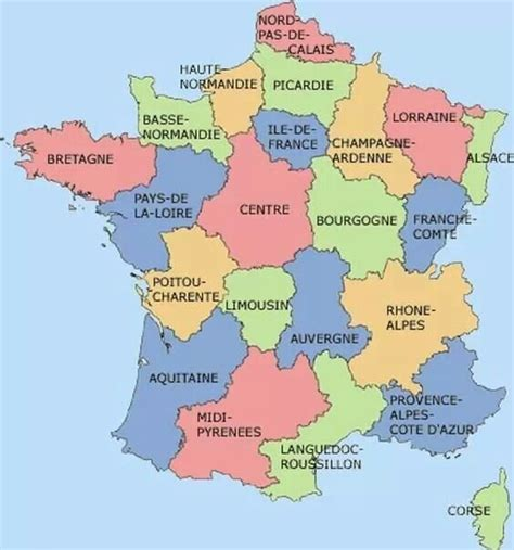 France | Auvergne, Map, Geography map