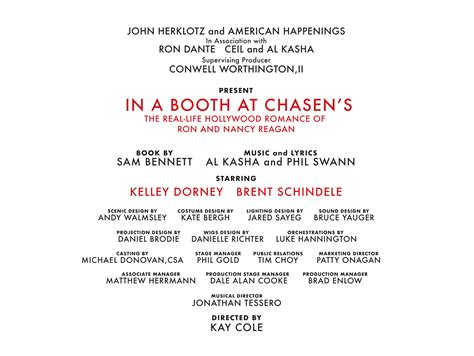Homepage | Production Information | In A Booth At Chasen's