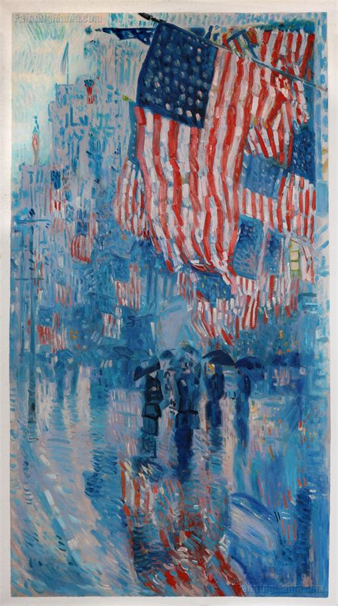 The Avenue in the Rain - Frederick Childe Hassam Paintings