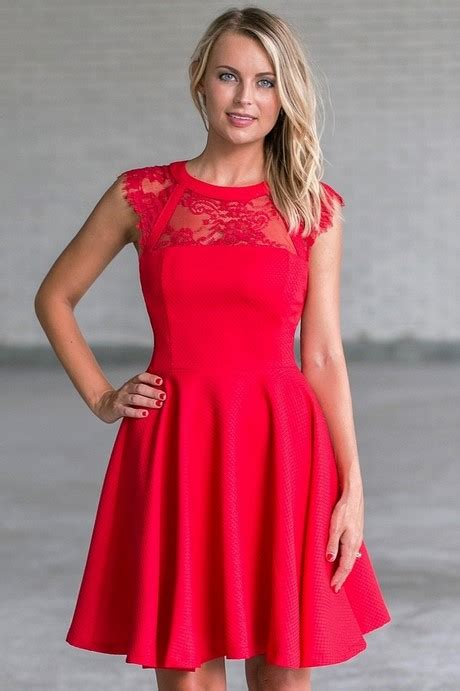 Cute red dresses for women