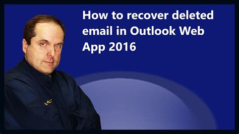 How to recover deleted email in Outlook Web App 2016 - YouTube
