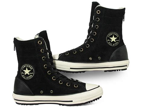 Converse All Star Hi-Rise Boot Material Suede Black