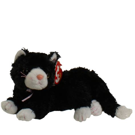 TY Beanie Baby - BOOTIES the Black & White Cat (8 inch
