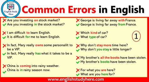 Common Mistakes Archives - English Study Here