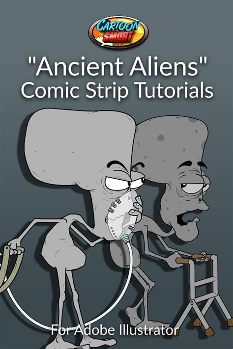 Ancient Aliens Comic Strips Tutorial with Adobe
