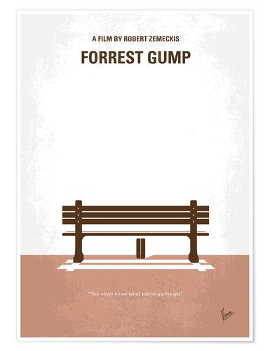 No193 My Forrest Gump minimal movie poster Poster Poster