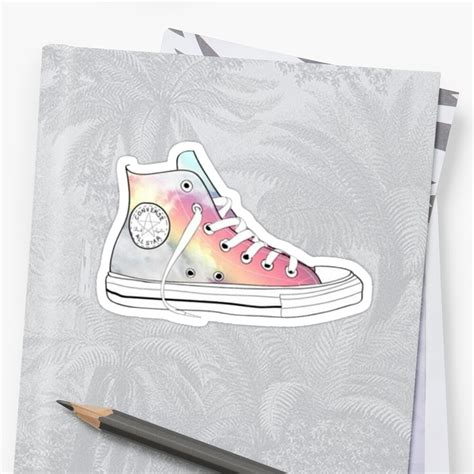 """""""rainbow high tops"""" Stickers by charlo19   Redbubble"""